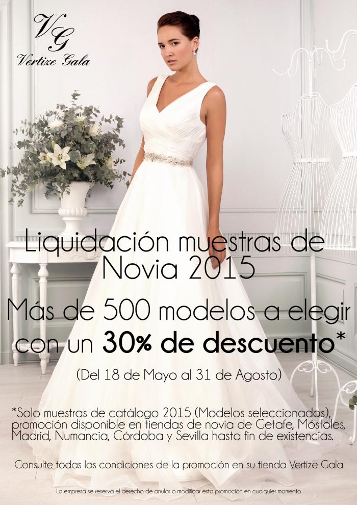 liquidación de muestrarios de novia 2015 - vertize gala blog